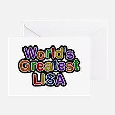 World's Greatest Lisa Greeting Card