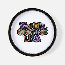 World's Greatest Lisa Wall Clock