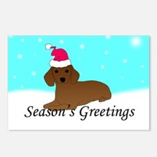 Dachshund Santa Postcards (Package of 8)