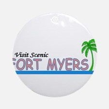 Visit Scenic Fort Myers, Flor Ornament (Round)