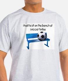 Soccer Bench Ash Grey T-Shirt