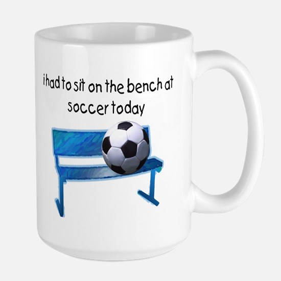 Soccer Bench Large Mug