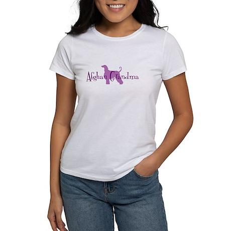 Afghan Hound Grandma Women's T-Shirt
