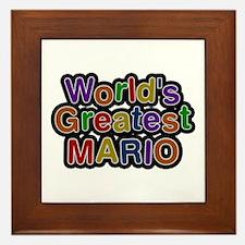 World's Greatest Mario Framed Tile