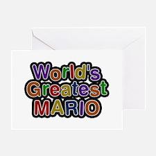 World's Greatest Mario Greeting Card