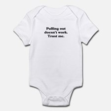 Puling out Infant Bodysuit