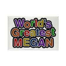 World's Greatest Megan Rectangle Magnet 100 Pack