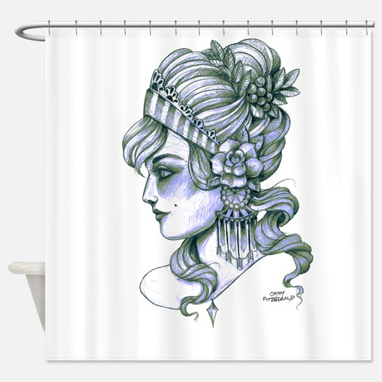 Gypsy Girl (transparent background) Shower Curtain