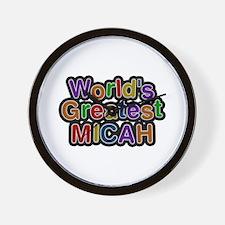 World's Greatest Micah Wall Clock