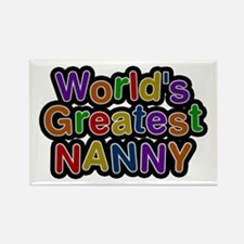 World's Greatest Nanny Rectangle Magnet