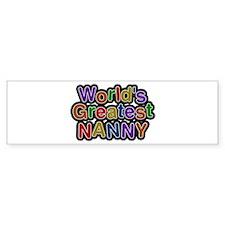 World's Greatest Nanny Bumper Bumper Sticker