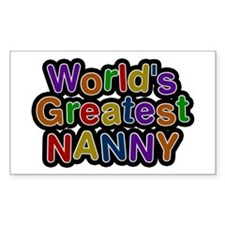 World's Greatest Nanny Rectangle Decal