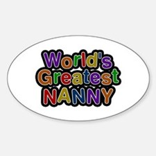 World's Greatest Nanny Oval Decal