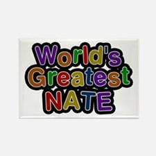 World's Greatest Nate Rectangle Magnet