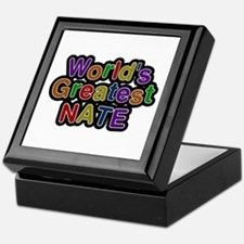 World's Greatest Nate Keepsake Box