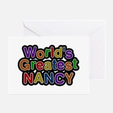 World's Greatest Nancy Greeting Card
