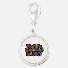 World's Greatest Nanny Silver Round Charm