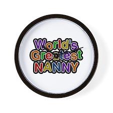 World's Greatest Nanny Wall Clock