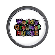 World's Greatest Nurse Wall Clock