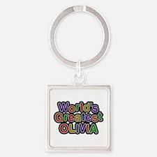 World's Greatest Olivia Square Keychain