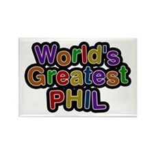 World's Greatest Phil Rectangle Magnet