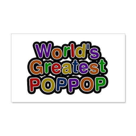 World's Greatest Poppop 20x12 Wall Peel