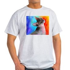 Sphynx Cat 21 Ash Grey T-Shirt