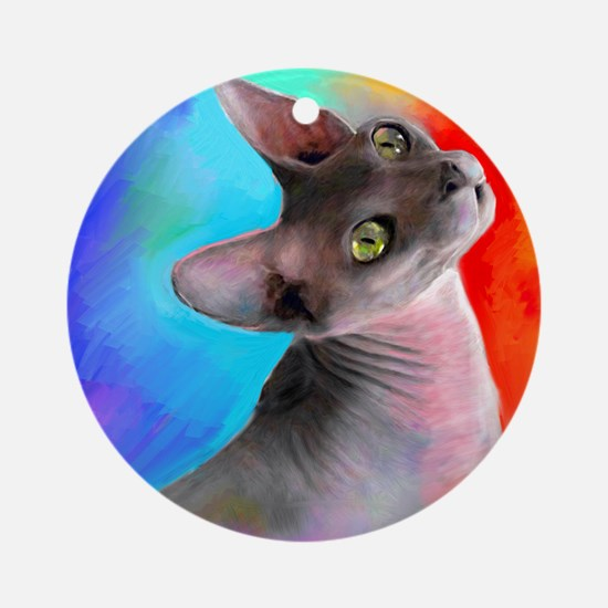 Sphynx Cat 21  Ornament (Round)