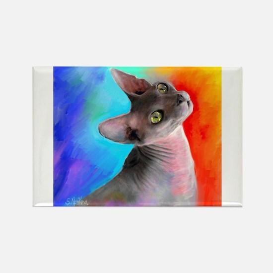 Sphynx Cat 21 Rectangle Magnet