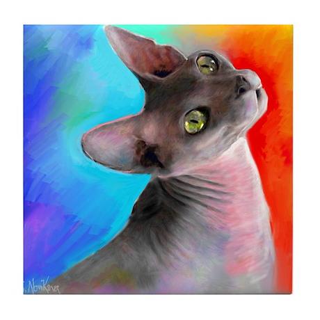 Sphynx Cat 21 Tile Coaster