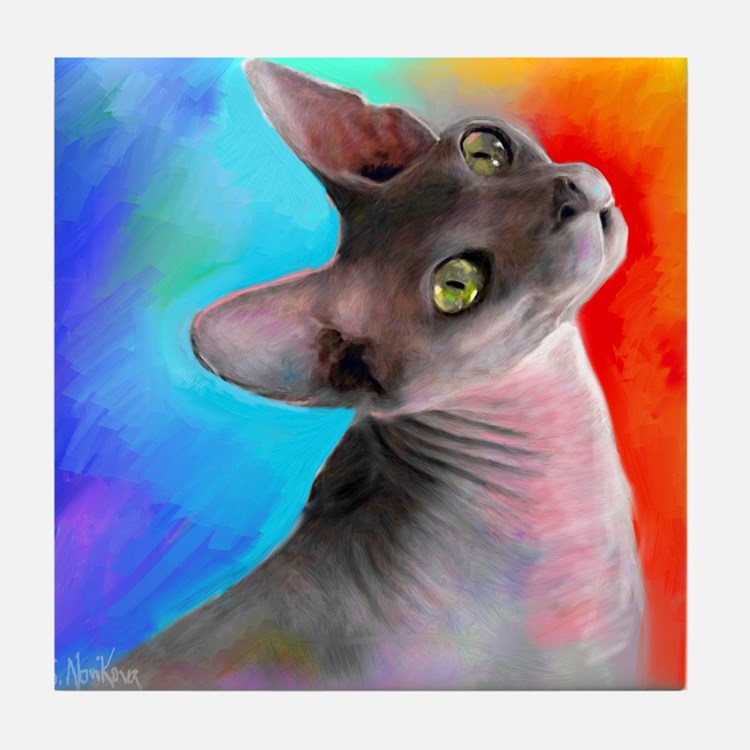 Sphynx Cat 21  Tile Coaster