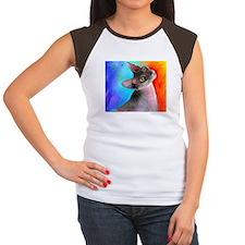 Sphynx Cat 21  Women's Cap Sleeve T-Shirt