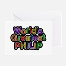 World's Greatest Philip Greeting Card