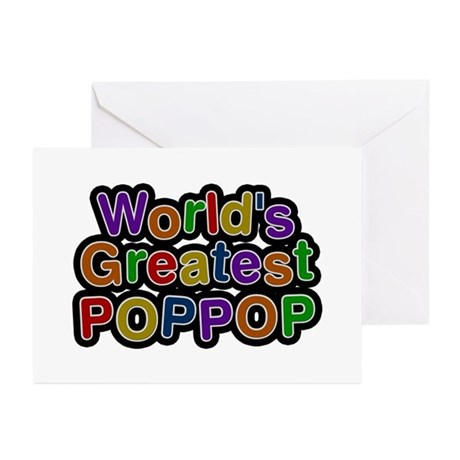 World's Greatest Poppop Greeting Card 10 Pack