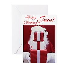 Happy Birthday Jesus Greeting Cards (Pk of 10)