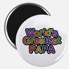 World's Greatest Papa Round Magnet