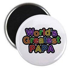 World's Greatest Papa Round Magnet 10 Pack