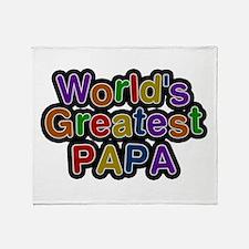World's Greatest Papa Throw Blanket