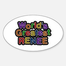 World's Greatest Renee Oval Decal