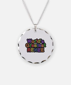World's Greatest Renee Necklace Circle Charm