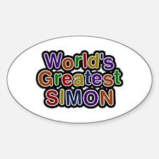 World's Greatest Simon Oval Decal
