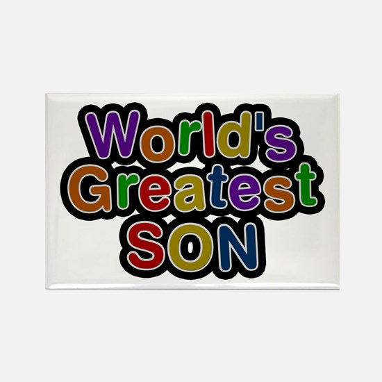 World's Greatest Son Rectangle Magnet