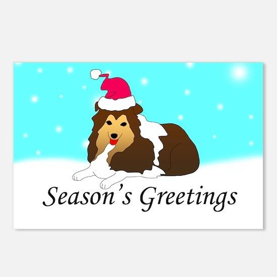 Sheltie Santa Postcards (Package of 8)
