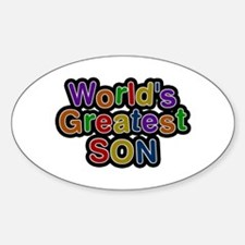World's Greatest Son Oval Sticker 10 Pack
