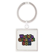 World's Greatest Son Square Keychain