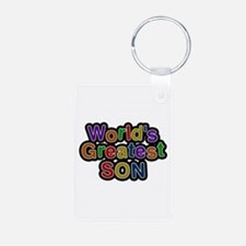 World's Greatest Son Aluminum Keychain