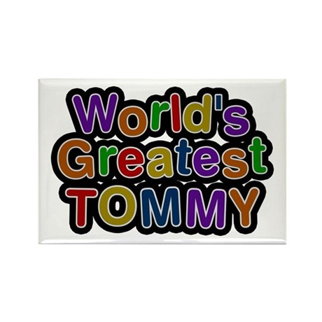 World's Greatest Tommy Rectangle Magnet