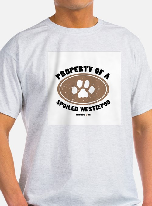 Westiepoo dog Ash Grey T-Shirt