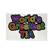 World's Greatest Tia Rectangle Magnet 10 Pack