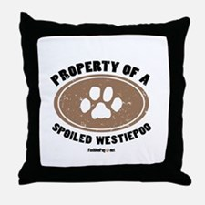 Westiepoo dog Throw Pillow